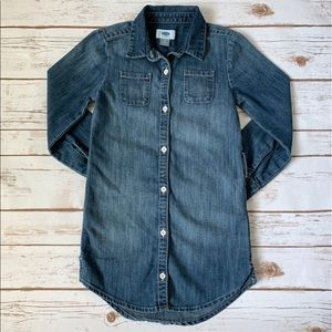 Long Sleeve Button Down Jean Old Navy Dress